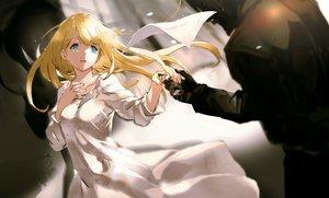Rating: Safe Score: 99 Tags: blonde_hair blue_eyes cropped dress long_hair male overlord sebas_tian so-bin tuareninya_veyron User: RyuZU