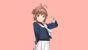Rating: Safe Score: 28 Tags: blush brown_hair card_captor_sakura green_eyes kinomoto_sakura pink pop_kyun school_uniform short_hair skirt User: RyuZU