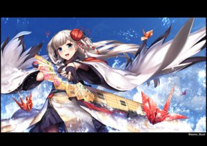 Rating: Safe Score: 40 Tags: anthropomorphism aqua_eyes azur_lane fan flowers gloves gray_hair japanese_clothes kimono shoukaku_(azur_lane) skirt tagme_(artist) water watermark User: BattlequeenYume