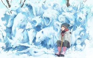 Rating: Safe Score: 27 Tags: gloves hat original scarf snow somehira_katsu User: FormX