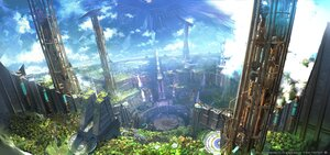 Rating: Safe Score: 25 Tags: building city final_fantasy final_fantasy_xiv landscape scenic square_enix water waterfall watermark User: SciFi
