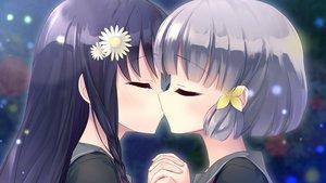 Rating: Questionable Score: 41 Tags: 2girls black_hair blush braids close flowers game_cg gray_hair headdress hiraoka_mutsuki kamitsure_~7_no_nijou_fushigi~ kiss long_hair mizuki_kotora school_uniform short_hair shoujo_ai twintails yurigaoka_nanami User: mattiasc02