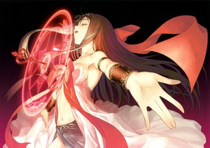 Rating: Safe Score: 112 Tags: brown_hair kaguya long_hair magic necklace no_bra nopan ribbons shining_hearts sideboob taka_tony User: Wiresetc