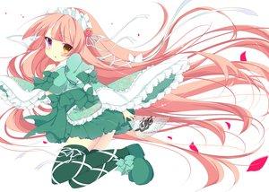 Rating: Safe Score: 95 Tags: bicolored_eyes japanese_clothes lolita_fashion long_hair original pink_hair thighhighs umi_no_mizu yukata User: Wiresetc