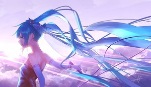 Rating: Safe Score: 35 Tags: clouds elbow_gloves gloves goroku hatsune_miku long_hair microphone vocaloid User: FormX