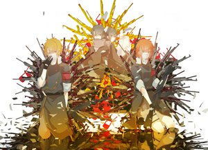 Rating: Safe Score: 51 Tags: gun hoshima orange_hair vocaloid weapon User: FormX