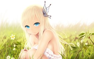 Rating: Questionable Score: 198 Tags: blonde_hair blue_eyes boku_wa_tomodachi_ga_sukunai cait dress flowers grass kashiwazaki_sena long_hair User: FormX