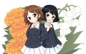Rating: Safe Score: 40 Tags: 2girls abe_kanari flowers girls_und_panzer loli sakaguchi_karina short_hair utsugi_yuuki User: FormX