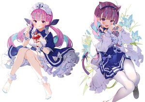Rating: Safe Score: 53 Tags: animal_ears barefoot braids catgirl flowers food fruit headband hololive ice_cream long_hair maid matsui_hiroaki minato_aqua pantyhose purple_eyes purple_hair scan strawberry tail third-party_edit twintails white User: BattlequeenYume