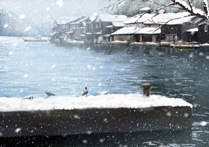 Rating: Safe Score: 56 Tags: animal bird boat building nobody original sakeharasu scenic snow water User: FormX