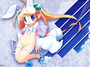 Rating: Questionable Score: 32 Tags: animal_ears bikini blonde_hair blue_eyes loli swimsuit tail_piece twintails User: HawthorneKitty