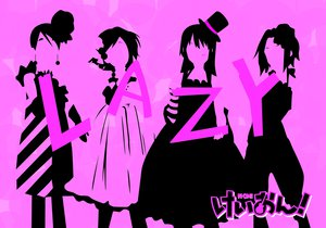 Rating: Safe Score: 16 Tags: akiyama_mio hirasawa_yui k-on! kotobuki_tsumugi monochrome purple silhouette tagme_(artist) tainaka_ritsu User: HawthorneKitty
