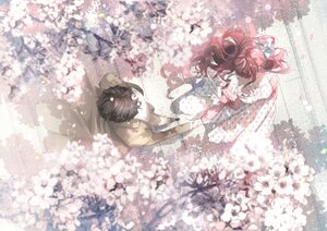 Rating: Safe Score: 48 Tags: dress flowers long_hair male nu10040904 original spring User: BattlequeenYume