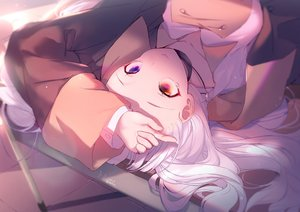 Rating: Safe Score: 63 Tags: bicolored_eyes close kagura_mea kagura_mea_channel long_hair necklace slyvia tears white_hair User: BattlequeenYume