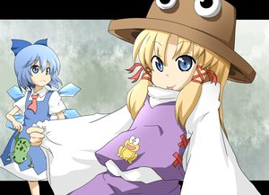 Rating: Safe Score: 10 Tags: 2girls animal cirno fairy frog moriya_suwako touhou User: Tensa