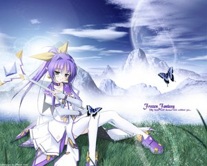 Rating: Safe Score: 10 Tags: angelan butterfly enhance_heart green_eyes pointed_ears purple_hair rokuwata_tomoe thighhighs virtual-on User: Oyashiro-sama