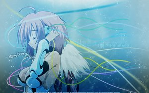 Rating: Safe Score: 59 Tags: chain headphones ikaros sora_no_otoshimono watermark wings User: pantu