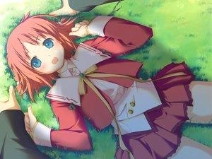 Rating: Safe Score: 6 Tags: amagahara_inaho favorite game_cg grass happy_margaret! kokonoka User: 秀悟