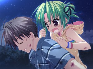 Rating: Safe Score: 39 Tags: fang game_cg green_hair hoshizora_e_kakaru_hashi ryohka toudou_koyori User: Wiresetc
