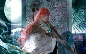 Rating: Safe Score: 64 Tags: blue_eyes chinese_clothes juuni_kokuki long_hair nakajima_youko red_hair saiga_tokihito sword weapon User: Flandre93