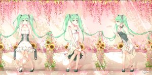 Rating: Safe Score: 32 Tags: green_eyes green_hair hatsune_miku long_hair signed twintails vocaloid User: luckyluna