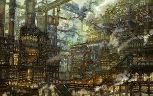 Rating: Safe Score: 80 Tags: building industrial munashichi original scenic stairs User: otaku_emmy