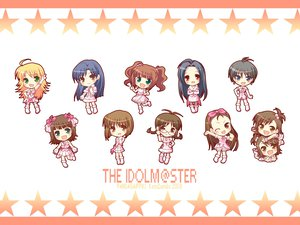 Rating: Safe Score: 18 Tags: akizuki_ritsuko amami_haruka black_hair blonde_hair brown_eyes brown_hair chibi futami_ami futami_mami glasses green_eyes group hagiwara_yukiho hoshii_miki idolmaster kikuchi_makoto kisaragi_chihaya minase_iori miura_azusa ribbons takatsuki_yayoi twins wink User: pantu