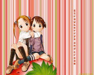 Rating: Safe Score: 8 Tags: food fruit ichigo_mashimaro itou_chika matsuoka_miu strawberry User: Oyashiro-sama