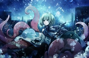 Rating: Safe Score: 59 Tags: blue_eyes bubbles building cape short_hair signed tentacles underwater water User: Flandre93