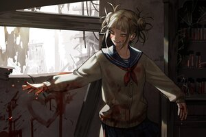 Rating: Safe Score: 26 Tags: blood boku_no_hero_academia byeolmu school_uniform toga_himiko User: Lily89402