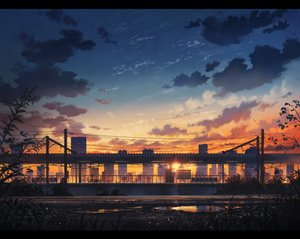 Rating: Safe Score: 168 Tags: city clouds cola_(gotouryouta) landscape nobody original scenic sky sunset tagme User: opai