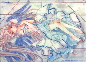 Rating: Safe Score: 35 Tags: barefoot bow chii chobits clamp dress long_hair red_eyes User: Oyashiro-sama