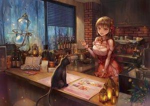 Rating: Safe Score: 83 Tags: animal blush brown_eyes brown_hair cat drink long_hair multiple_tails original paper tail yahiro_(heartseek000) User: BattlequeenYume