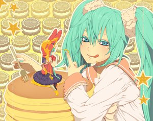 Rating: Safe Score: 47 Tags: hatsune_miku lots_of_laugh_(vocaloid) nayu vocaloid User: HawthorneKitty
