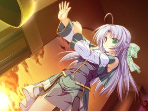Rating: Safe Score: 5 Tags: alicia_infans bow game_cg long_hair magus_tale purple_hair tenmaso User: Oyashiro-sama