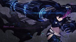 Rating: Safe Score: 163 Tags: black_hair black_rock_shooter han-0v0 insane_black_rock_shooter purple_eyes scar signed weapon User: FormX