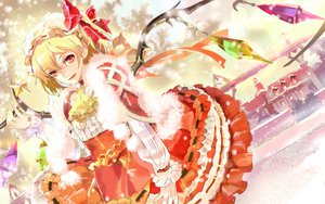 Rating: Safe Score: 47 Tags: 119 blonde_hair bow christmas flandre_scarlet hat lolita_fashion red_eyes snow touhou vampire wings User: Maboroshi