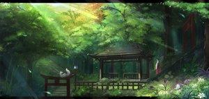 Rating: Safe Score: 217 Tags: animal black_hair butterfly flowers forest fox japanese_clothes kikivi long_hair miko original ponytail scenic shrine torii tree User: Flandre93