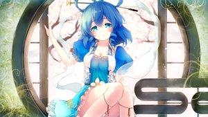 Rating: Safe Score: 71 Tags: aqua_eyes blue_hair breasts cleavage dress gengetsu_chihiro kaku_seiga touhou User: luckyluna
