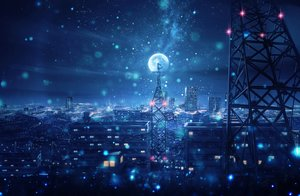 Rating: Safe Score: 47 Tags: building city kenzo_093 kijineko moon night original scenic sky stars User: FormX