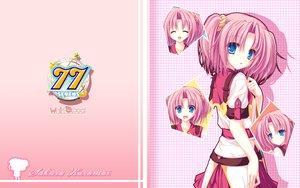 Rating: Safe Score: 39 Tags: 77 blue_eyes kazamai_sakura mikagami_mamizu pink_hair school_uniform twintails User: oranganeh