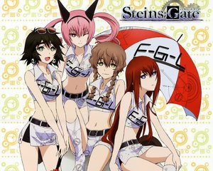 Rating: Safe Score: 150 Tags: amane_suzuha calendar cropped faris_nyannyan makise_kurisu shiina_mayuri steins;gate sunglasses umbrella wink User: Wiresetc