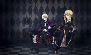 Rating: Safe Score: 23 Tags: all_male alois_trancy blonde_hair crossover kuroshitsuji male pandora_hearts vincent_nightray User: Katsumi