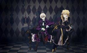 Rating: Safe Score: 26 Tags: all_male alois_trancy blonde_hair crossover kuroshitsuji male pandora_hearts vincent_nightray User: Katsumi