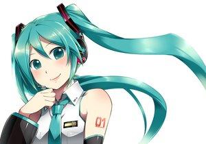 Rating: Safe Score: 48 Tags: aqua_eyes aqua_hair caffein hatsune_miku headphones tie vocaloid User: FormX