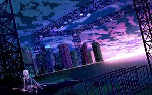 Rating: Safe Score: 92 Tags: city guilty_crown langjiao pink_hair yuzuriha_inori User: opai