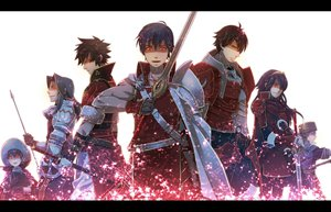 Rating: Safe Score: 76 Tags: armor book cape chrom_(fire_emblem) donny_(fire_emblem) fire_emblem gloves hat lucina_(fire_emblem) male natsu_y red_eyes richt_(fire_emblem) ronku_(fire_emblem) sword viole_(fire_emblem) weapon white User: STORM