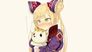 Rating: Safe Score: 41 Tags: animal blonde_hair blush bow brown doll green_eyes headdress loli long_hair luna_(shadowverse) puppet shadowverse twintails yamausagi User: Hakha