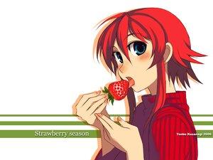 Rating: Safe Score: 21 Tags: food fruit kusanagi_tonbo original red_hair strawberry User: Oyashiro-sama