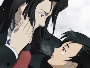 Rating: Safe Score: 12 Tags: blood_(anime) haji otonashi_saya snow winter User: Oyashiro-sama